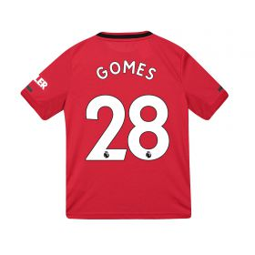 Manchester United Home Shirt 2019 - 20 - Kids with Gomes 28 printing