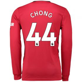 Manchester United Home Shirt 2019 - 20 - Long Sleeve with Chong 44 printing