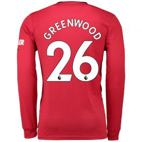 Manchester United Home Shirt 2019 - 20 - Long Sleeve with Greenwood 26 printing