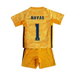 Real Madrid Home GK Mini Kit 2019 - 20 with Navas 1 printing