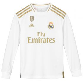 Real Madrid Home Shirt 2019-20 - Long Sleeve - Kids with Rodrygo 27 printing