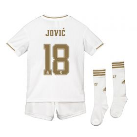 Real Madrid Real Madrid Home Kit 2019 - 20 - Kids with Jovic 18 printing