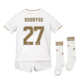 Real Madrid Real Madrid Home Kit 2019 - 20 - Kids with Rodrygo 27 printing