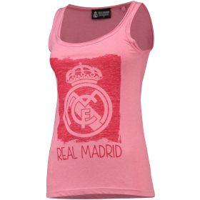 Real Madrid Printed Crest Vest - Pink - Womens