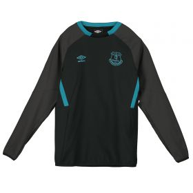Everton Training Drill Top - Black - Kids