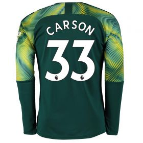 Manchester City Home Goalkeeper Shirt 2019-20 with Carson 33 printing