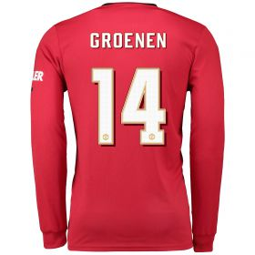 Manchester United Cup Home Shirt 2019 - 20 - Long Sleeve with Groenen 14 printing