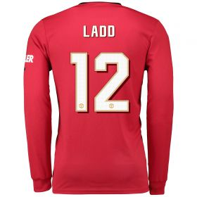 Manchester United Cup Home Shirt 2019 - 20 - Long Sleeve with Ladd 12 printing