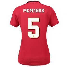 Manchester United Cup Home Shirt 2019 - 20 - Womens with McManus 5 printing