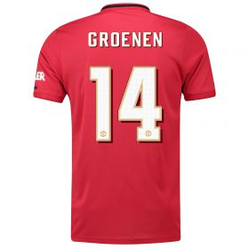 Manchester United Cup Home Shirt 2019 - 20 with Groenen 14 printing