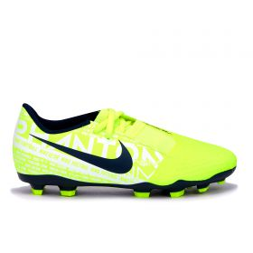 Nike Phantom VNM Academy Firm Ground Football Boots - Volt - Kids