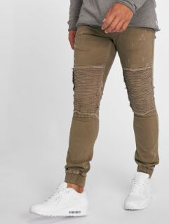 2Y / Slim Fit Jeans Denim Jogger in brown