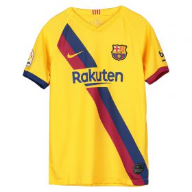 Barcelona Away Stadium Shirt 2019-20 - Kids with Messi 10 printing