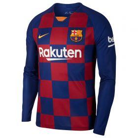 Barcelona Home Stadium Shirt 2019-20 - Long Sleeve with Piqué 3 printing