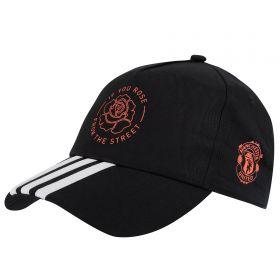 Manchester United Rose Cap - Black