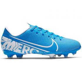 Nike Mercurial Vapor 13 Academy Firm Ground Football Boots - Blue - Kids