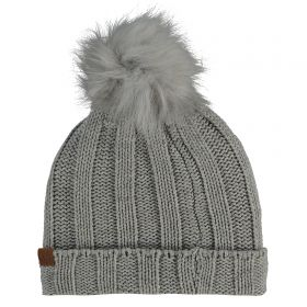 Chelsea Oversized Faux Pom Knit - Grey - Adult