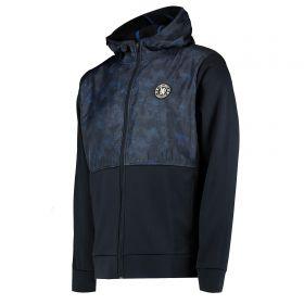 Chelsea Printed Overlay Hybrid Jacket - Navy - Mens