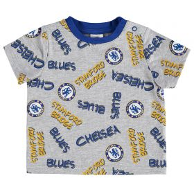 Chelsea Printed T-Shirt - Grey Marl - Infant