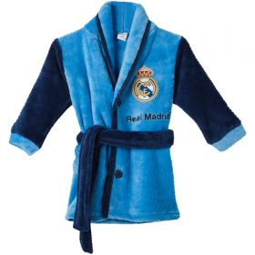 Real Madrid Button Up Robe - Navy/Blue - Baby