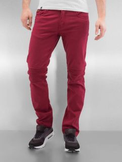 Rocawear / Straight Fit Jeans Quilted in red