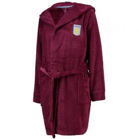 Aston Villa Fleece Robe - Claret -Womens