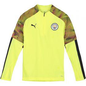 Manchester City UCL 1/4 Zip Training Top - Yellow - Kids