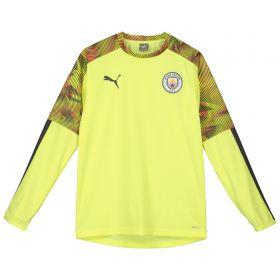 Manchester City UCL Training Rain Top - Yellow - Kids