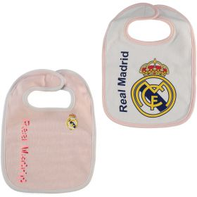 Real Madrid 2 Pack Crest Bibs - Pink/White - Baby