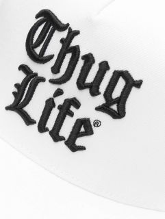 Thug Life / Snapback Cap Nico in white