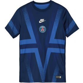 Paris Saint-Germain Pre Match Top - Blue - Kids