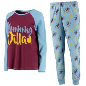 Aston Villa Mummy Villan Pyjama Set - Blue - Womens