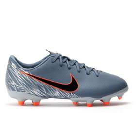 Nike Vapor 12 Academy Firm Ground Football Boots - Grey - Kids