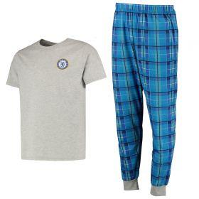 Chelsea Check Pyjama Set - Grey Marl - Mens