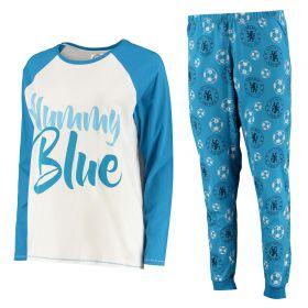 Chelsea LS Mummy Blue Pyjama Set - Blue - Womens