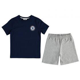Chelsea T-Shirt and Shorts Pyjama Set - Navy/Grey Marl - Boys