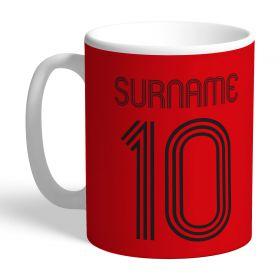 Manchester United Personalised Retro Shirt Mug