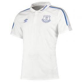 Everton Poly Polo - White