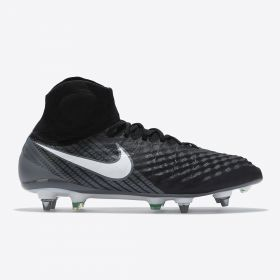 Nike Magista Obra II Soft Ground Football Boots - Black/White/Dark Grey/Stadium Green