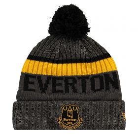 Everton New Era Toffees Bobble Knit Hat - Rust - Adult