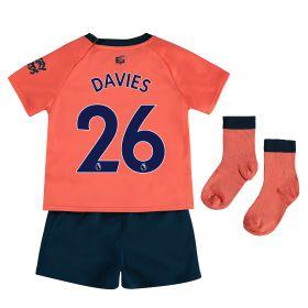 Everton Away Baby Kit 2019-20 with Davies 26 printing