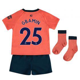 Everton Away Baby Kit 2019-20 with Gbamin 25 printing