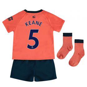 Everton Away Baby Kit 2019-20 with Keane 4 printing