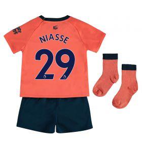 Everton Away Baby Kit 2019-20 with Niasse 19 printing