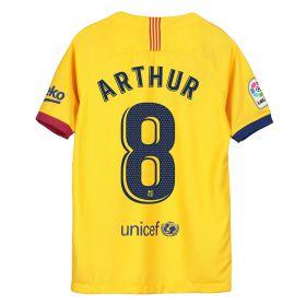 Barcelona Away Stadium Shirt 2019-20 - Kids with Arthur 8 printing