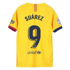 Barcelona Away Stadium Shirt 2019-20 - Kids with Suárez 9 printing