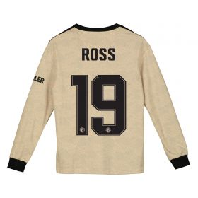 Manchester United Cup Away Shirt 2019 - 20 - Kids - Long Sleeve with Ross 19 printing