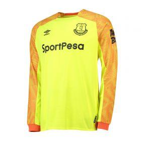 Everton Goalkeeper Away Shirt 2018-19 with Pickford 1 printing