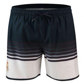 Real Madrid Fade Effect Swimshorts - Black/White - Mens