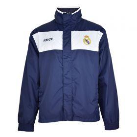 Real Madrid Shower Jacket - Navy - Mens